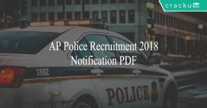 AP Police recruitment 2018 notification