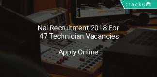 Nal Recruitment 2018 Apply Online For 47 Technician Vacancies