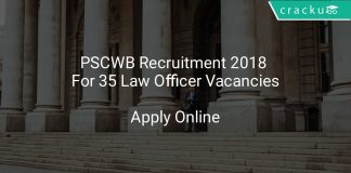 PSCWB Recruitment 2018 Apply Online For 35 Law Officer Vacancies