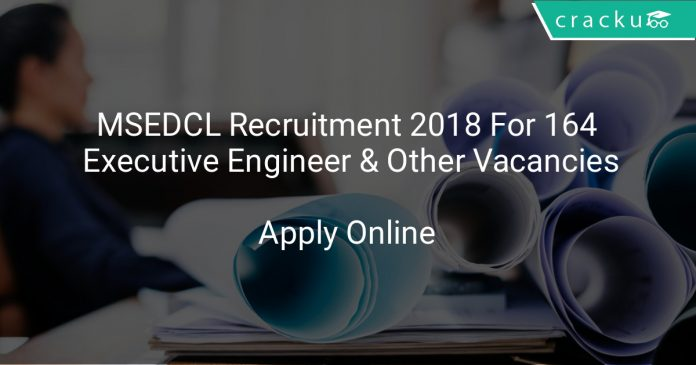 MSEDCL Recruitment 2018 Apply Online For 164 Executive Engineer & Other Vacancies