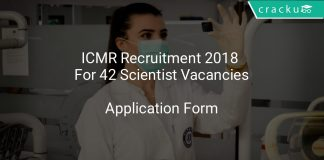 ICMR Recruitment 2018 Application Form For 42 Scientist Vacancies