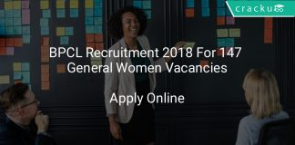 BPCL Recruitment 2018 Apply Online For 147 General Women Vacancies