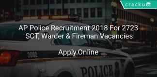 AP Police Recruitment 2018 Apply Online For 2723 SCT, Warder & Fireman Vacancies