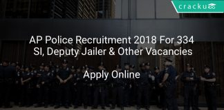 AP Police Recruitment 2018 Apply Online For 334 SI, Deputy Jailer & Other Vacancies