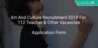 Art And Culture Recruitment 2018 Apply Online For 112 Teacher & Other Vacancies