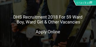 DHS Recruitment 2018 Apply Online For 59 Ward Boy, Ward Girl & Other Vacancies