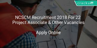 NCSCM Recruitment 2018 Apply Online For 22 Project Associate & Other Vacancies