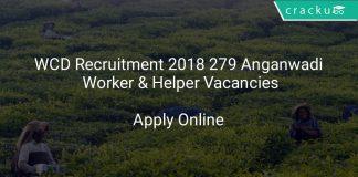 WCD Recruitment 2018 Apply Online For 279 Anganwadi Worker & Helper Vacancies