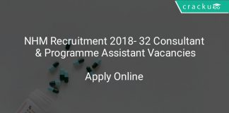 NHM Recruitment 2018 Apply Online For 32 Consultant & Programme Assistant Vacancies