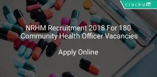NRHM Recruitment 2018 Apply Online For 180 Community Health Officer Vacancies