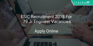 ESIC Recruitment 2018 Apply Online For 79 Jr Engineer Vacancies