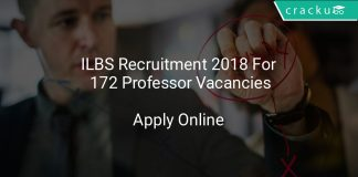 ILBS Recruitment 2018 Apply Online For 172 Professor Vacancies