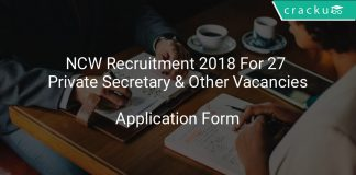 NCW Recruitment 2018 Application Form For 27 Private Secretary & Other Vacancies