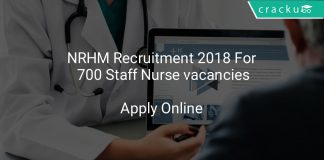 NRHM Recruitment 2018 Apply Online For 700 Staff Nurse vacancies