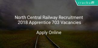 North Central Railway Recruitment 2018 Apprentice 703 Vacancies
