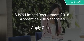 SJVN Limited Recruitment 2018 Apprentice 230 Vacancies