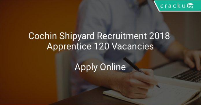 Cochin Shipyard Recruitment 2018 Apprentice 120 Vacancies