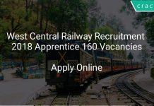 West Central Railway Recruitment 2018 Apprentice 160 Vacancies
