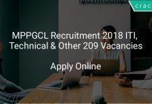 MPPGCL Recruitment 2018 ITI, Technical & Other 209 Vacancies