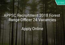 APPSC Recruitment 2018 Forest Range Officer 24 Vacancies