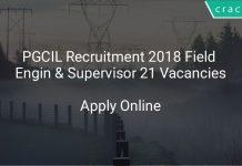 PGCIL Recruitment 2018 Field Engineer & Supervisor 21 Vacancies