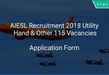 AIESL Recruitment 2018 Utility Hand & Other 115 Vacancies