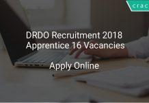 DRDO Recruitment 2018 Apprentice 16 Vacancies