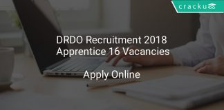 DRDO Recruitment 2018 Apprentice 16 Vacancies