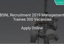 BSNL Recruitment 2019 Management Trainee 300 Vacancies