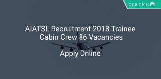 AIATSL Recruitment 2018 Trainee Cabin Crew 86 Vacancies