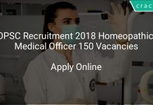 OPSC Recruitment 2018 Homeopathic Medical Officer 150 Vacancies