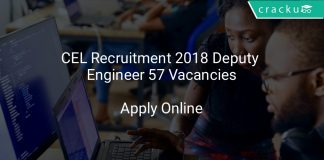 CEL Recruitment 2018 Deputy Engineer 57 Vacancies