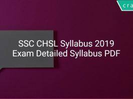 SSC CHSL Syllabus 2019 PDF