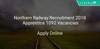 Northern Railway Recruitment 2018 Apprentice 1092 Vacancies