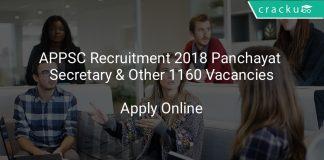 APPSC Recruitment 2018 Panchayat Secretary & Other 1160 Vacancies