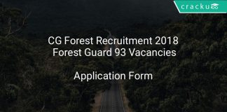 CG Forest Recruitment 2018 Forest Guard 93 Vacancies