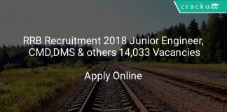RRB Recruitment 2018 Junior Engineer, CMD, DMS & others 14,033 Vacancies