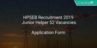 HPSEB Recruitment 2019 Junior Helper 52 Vacancies