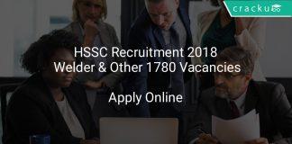 HSSC Recruitment 2018 Instructor & Other 1780 Vacancies