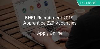 BHEL Recruitment 2019 Apprentice 229 Vacancies