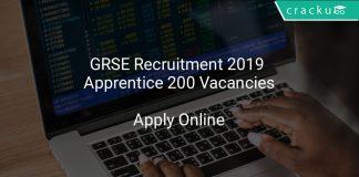 GRSE Recruitment 2019 Apprentice 200 Vacancies
