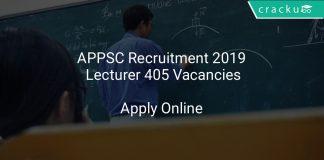 APPSC Recruitment 2019 Lecturer 405 Vacancies