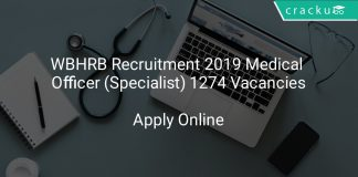 WBHRB Recruitment 2019 Medical Officer (Specialist) 1274 Vacancies
