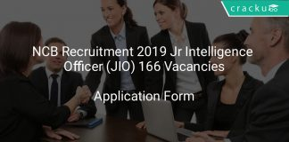 NCB Recruitment 2019 Junior Intelligence Officer (JIO) 166 Vacancies