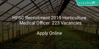 HPSC Recruitment 2019 Horticulture & Medical Officer 223 Vacancies
