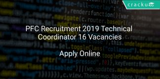 PFC Recruitment 2019 Technical Coordinator 16 Vacancies