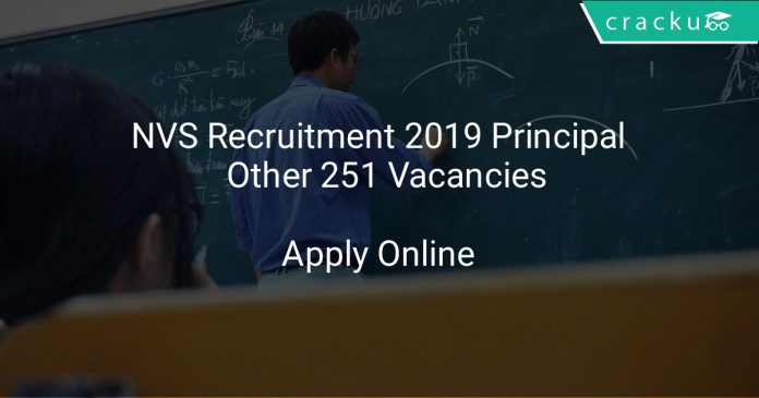 NVS Recruitment 2019 Principal & Other 251 Vacancies