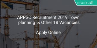 APPSC Recruitment 2019 Town Planning & nOther 18 Vacancies