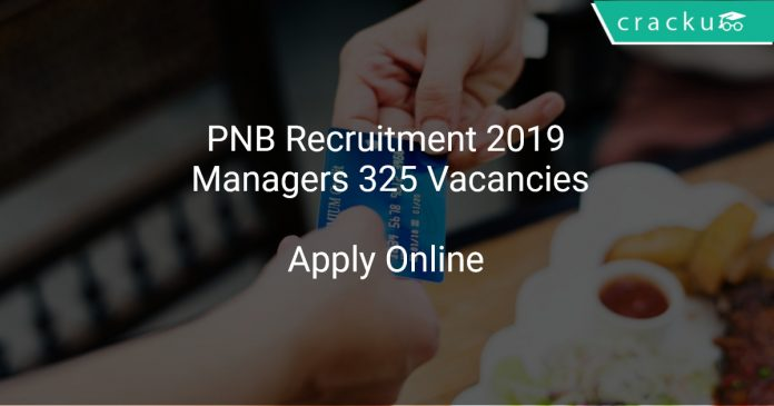 PNB Recruitment 2019 Managers 325 Vacancies