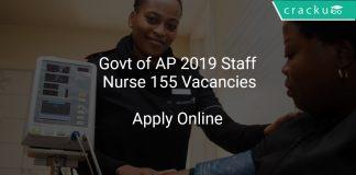 Govt of AP 2019 Staff Nurse 155 Vacancies